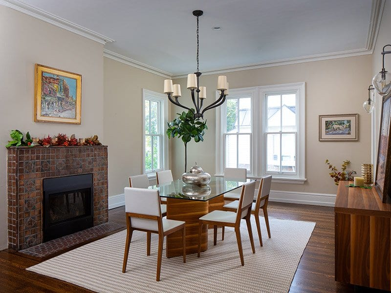 Beautiful dining room after home staging
