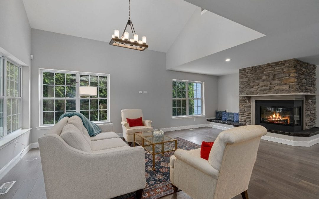 Contemporary staged living room