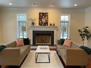 Classic staged living room
